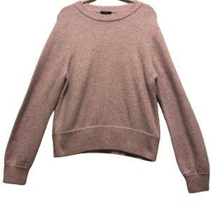 J Crew Lavender Alpaca Blend Crew Neck Sweater